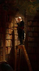 Carl Spitzweg Il topo di biblioteca decorazione domestica dipinta a mano HD Stampa della pittura a olio su tela di canapa di arte della parete della tela di canapa Immagini 191.112