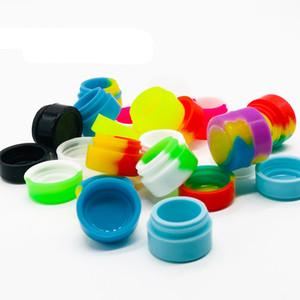 Round Jars Container silicone Dab Cire Huile Vaporisateur récipient 2 ml d'huile Slick à sec Conteneurs Herb 500 pcs / lot Livraison gratuite