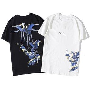 Мужская футболка Hip Hop моды Bird Печать Мужская футболка с коротким рукавом высокого качества Мужчины Женщины Футболка Polo Размер S-XXL