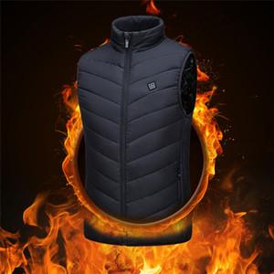 Aquecimento Vest lavável carregamento USB Aquecimento Quente Controle Vest Temperatura Outdoor Camping Caminhadas Golf (sem bateria)