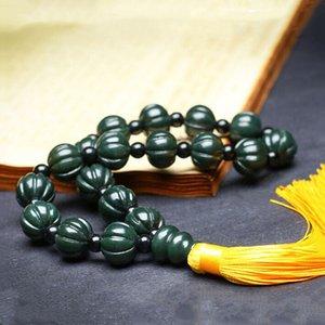 Natural Hetian Qingyu Xinjiang Lotus Pumpkin Pendant Jewellery Men Women Lucky Auspicious Amulet Jewellery Fine Jade Pendant