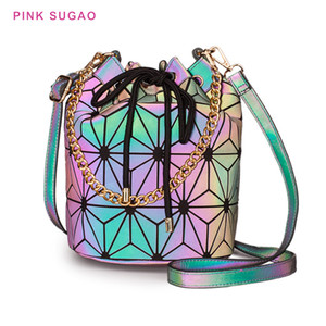 Rose Sugao femmes sac à bandoulière concepteur sac à main 2020 nouveau sac seau lumineux casual Lingge sac bandoulière en cuir PU