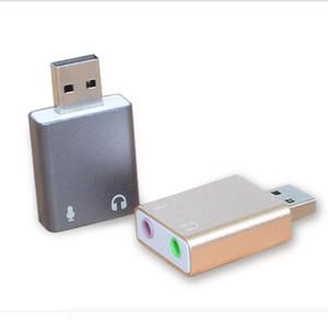 ALUMINIUM 7.1 Channel Adaptateur audio stéréo stéréo externe USB pour Windows XP 7 8 10 Plug android Linux et Mac et jeu