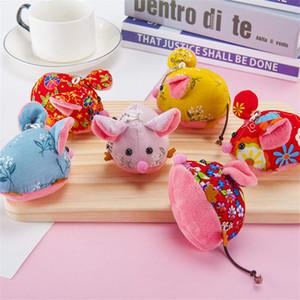 Florais pano arte ratos boneca acessórios ano rato pingente saco de brinquedos mascote de pelúcia pequeno atacado de presente