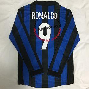 LONG MANCHE 1998/99 RETRO VINTAGE CLASSIC RONALDO 9 BAGGIO 10 J ZANETTI MAILLOT DE FOOT shirts de football de qualité maillots football thaïlande kit