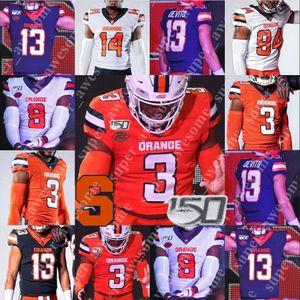 Syracuse Orange Football Jersey 5 Donovan McNabb 44 Jim Brown 39 Larry Csonka John Mackey Ernie Davis Joe Morris Floyd Little Don McPherson
