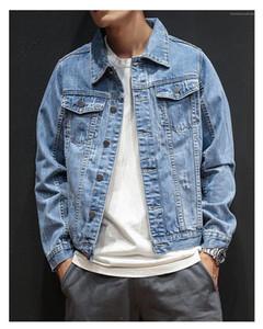 Jeans Jacket Moda Denim bolso Botão Roupa Decoração Mens Outono Primavera Vintage Jacket Designer Mens Sólidos