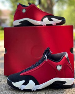 Authentique 14 Gym Red 487471-006 2020 NakeskinJordanRetroBlack Blanc Hommes Basketball Chaussures Hommes Sport Chaussures XIV 14s avec la boîte