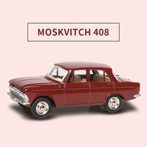 Alta simulazione 1410 MOSKVITCH 408 1:43 Dinky Alloy Tirare indietro Toy Car Model Toy Car Hot Diecast in metallo per bambini Giocattoli Ruote SH190910
