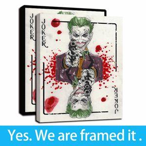 Framed Artwork Gallery Art Canvas - Joker Pensant Poker Poker Panker Pictures HD Impression sur Toile Art Art Pictures Peintures pour la décoration de la maison