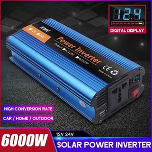 Car Power Inverter 6000W DC12 24V to AC 220V 50HZ Modified Sine Wave Inverter Voltage transformer Power Converter + Lcd Display y09H#