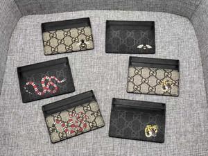 Hot Card Holder Concepteurs Hommes Femmes Porte-cartes Mini Portefeuilles poche Porte-monnaie Intérieur sous poche Véritable embrayage de Pures serpent en cuir