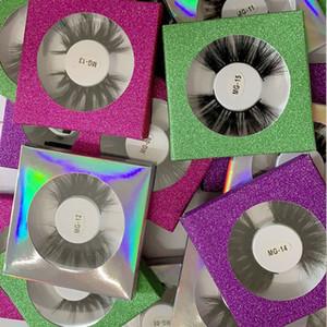Nouveau 25 mm 3D Vison Cils Longueur extra épais 5D Mink Lashes Big Volumn dramatique Faux Cils viennent avec des boîtes-cadeaux