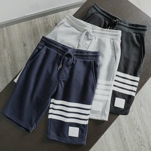 Kadın ya da erkek moda En Versiyon TB kısa pantolon rahat eşofman pantolon pantalon homme Kalite İpli spor çizgili joggers mens