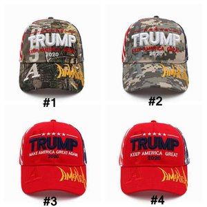 Donald Trump Baseball Cap 2020 keep America Great Again Letter Embroidered Outdoor Sports Sunhat Party Hats ZZA2266 100Pcs