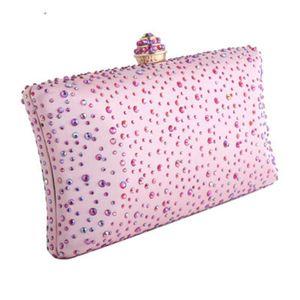 New dinner clutch bag high-grade diamond handbag British wind diagonal cross banquet bag bridal knot wedding package