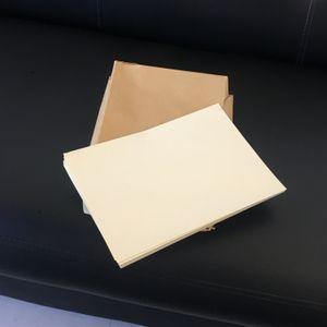folhas de papel bond 75% algodão 25% passe de linho caneta falsa teste de papel Bege cor 8.5IN * 11IN papel