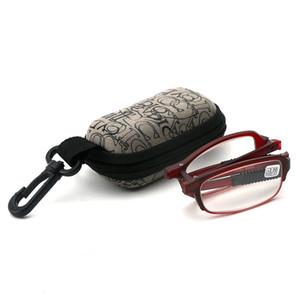 Unisex Folding MINI Reading Glasses Eyeglass With Case +1.0 +1.5 +2.0 +2.5 +3.0 +3.5 +4.0 Women Men Eyewear Y0601