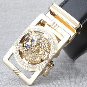 Berühmte designer männer gürtel mann luxus hochwertigen männlichen gürtel gold Wolf kopf schnalle Gürtel hüftgurt cowboy jeans männer gürtel 001