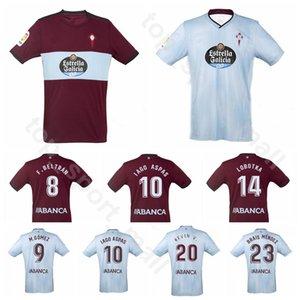 2019 2020 RC Celta Vigo Forması Futbol BONGONDA HERNANDEZ NOLITO 10 IAGO ASPAS 9 Maxi Gomez BRAIS MENDEZ Futbol Gömlek Kitleri Üniforma