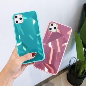Ромб Алмазного зеркало чехол для телефона iPhone 11 Pro Max Laser задней крышки для Iphone XS XR 8 7 6S Plus