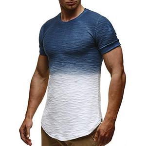 20ss para hombre del diseñador del verano camisetas Hommes Colores remiendo de la manera t camisas sport de manga corta Tops