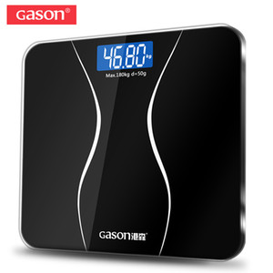 GASON A2 Bathroom Floor Body Scale Glass Smart Household Electronic Digital Weight Balance Bariatric LCD Display 180KG 50G T200522