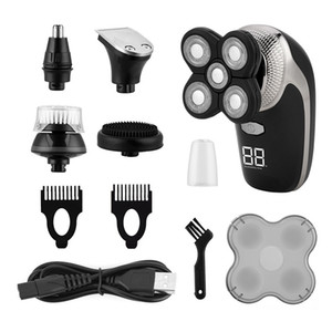 5 in 1 Professional Electric Shaver Waterproof Beard Trimmer Quick Charge Sideburns Nose Hair Trimmer Facial Cleansing Brush 31