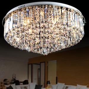 Hot sales round flushmount K9 crystal chandelier modern minimalist LED lamp living room Bedroom Chandeliers LLFA