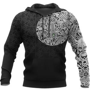Liumaohua Viking Odin - Melhor Tatuagem Viking 3D Impresso Homens camisolas dos Harajuku Moda moletom com capuz Outono Unisex hoodie de 3978