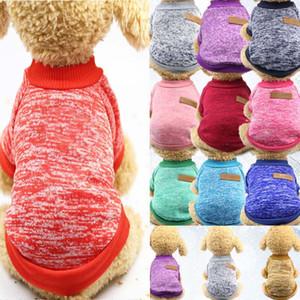 Köpek Giysileri Giyim Sonbahar Kış Pet Köpek Kazak Ceket Giyim Hoodied Defansif Soğuk Yavru Kedi Örgü Köpekler Kazak Köpek Gömlek WX9-1329