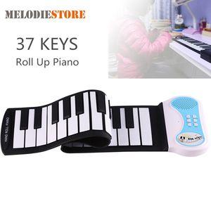 37 Clés silicone souple main Roll Up Piano clavier virtuel électronique portable Organ Music cadeau pour les enfants des étudiants