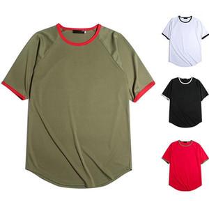 Печать Tshirts лето Дизайнер тинейджеров Crew Neck с коротким рукавом Тис Мужчины Повседневная мужская одежда дряблая Полосатый