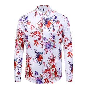2019 latestFashion shirts Brand dress 3d-printed medusa shirt long-sleeved men's party club designer top for men
