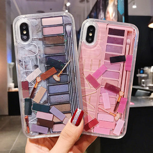 iPhone Quicksand Líquido Glitter Bling Maquiagem Eyeshadow design do telefone capa para 11 Pro Max XS Max XR X 8 7 6s 6 Plus