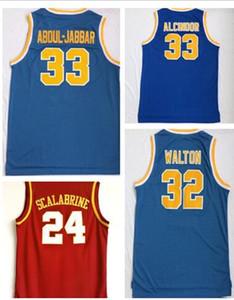 desgaste barato Los Angeles College Basketball, 24 Scalabrine 32 WALTON 0 WESTBROOK basquete jerseys vestuário jérseis, Personalidade lojas online