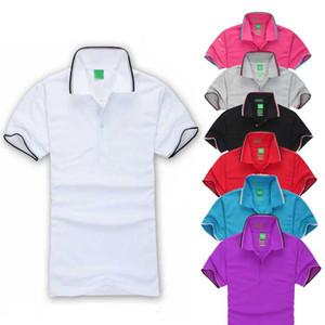 Bahar ve Yaz Yeni Marka Erkekler Polo Tişörtlü Adam Yaka Kısa Kollu T-shirt Boys Polos Nakış T Gömlek Erkek Patronlar Giyim Tops