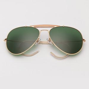 3030 sunglasses gradient polarized 58mm glass lens men women mirror pilot glasses sol gafas UV400 outdoorsman craft T200629