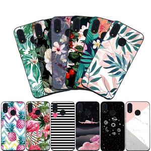 Para huawei p20 plus p20 pro p9 lite p10 p casos de telefone inteligente y3 y6 y9 y5 lite prime luxo abacaxi de mármore estrelas case capa