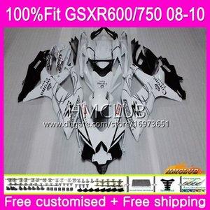 Injection For SUZUKI GSXR 600 750 08 GSXR-750 GSXR600 08 09 10 7HM.13 GSXR-600 K8 GSX R750 R600 GSXR750 2008 2009 2010 sale white Fairing