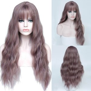 Long hair chemical fiber hood wig high temperature silk mechanism long T color natural curved multicolor instant noodle roll