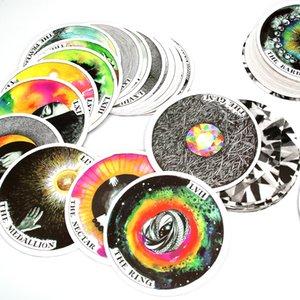 78pcs sauvage inconnu Archétypes pont Guide par Kim Krans Circulaire Oracle Tarot Jeu de cartes d'orientation destin carte Divination