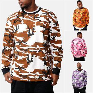 Meihuida Qualitäts-Freizeit-Mann-Tarnung Camo Langarm Rundhalsausschnitt Pullover Fashion Fleece Comfort Hoodie Hoodies Man