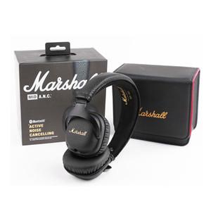마샬 중반 ANC 헤드폰 블루투스 기능이있는 중저음 디카 하이파이 무선 스테레오 이어폰 헤드셋 DHL