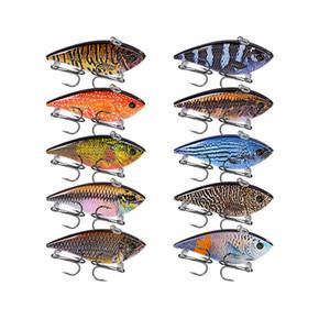 "10PC Lot Pencil Fishing Lures VIB Bait 12g-0.42oz Fishing Tackle 6# Hooks 3D Eyes Bass Baits 6.95cm-2.73"" 10 Colors VIB Set 2018"