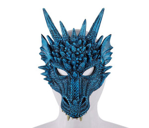 3D Dragon Mask Carnival Party Animal Costume Dragon Cosplay Masquerade Maschera PU maschera Mardi Gras