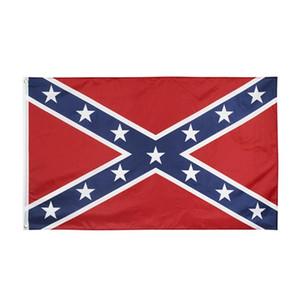 Flagge der Konföderierten US Kampf Südliche Flagge 150 * 90cm Polyester Nationalflaggen Two Sides Printed Civil War Flags HHA1386