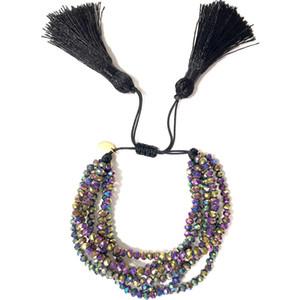 Go2boho Fit MIYUKI Bracciale Donna Pulseras Mujer 2019 Bohemian Jewelry Bracciali in cristallo Summer Boho Chic Charm Nappa Handmade