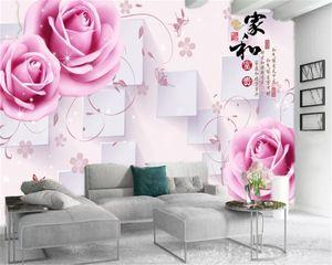 Custom 3d Flower Wallpaper Home and Delicate Flowers Living Room Bedroom Decoration Mural Wallpaper