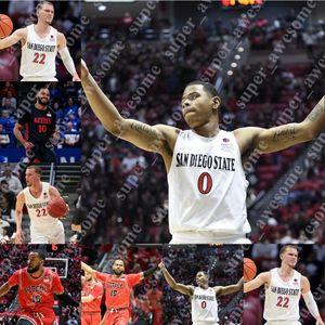 San Diego State Basketball Jersey Malachie Flynn Matt Mitchell Yanni Wetzell 20 Schakel KJ Feagin Nathan Mensah Trey Pulliam Adam Seiko